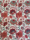 "Anokhi Red & Turquoise Floral Cotton Tablecloth, 60""x90"""