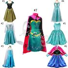 Halloween Xmas Girls Princess Coronation Gown Fancy Dress Costume Party Cosplay