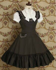 Ladies Coffee Sweet Ruffles Lolita Dress Cosplay Maid Costume Outfit Tailor Made