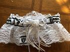 Oakland Raiders Football NFL Bridal Garter Set White lace Regular / Plus size