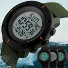 Fashion Men's Military LED Digital Date Countdown Timer Sport Quartz Wrist Watch