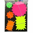 ARTBOX NEON CARDBOARD FLUORESCENT STARS DIFFERENT SIZES AND DIFFERENT PACK