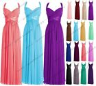 Long Chiffon Wedding Formal Evening Party Bridesmaid Ball Gown Prom Dress 6-22