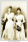 PRINCESSES VICTORIA AND MAUD OF WALES PRINT. ALEXANDRA OF DENMARK's DAUGHTERS
