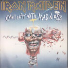 "IRON MAIDEN Can I Play With Madness 7"" VINYL UK Emi Black And White Paper Label"