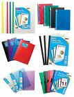 A4 Clipbar Project Clippy Press 'n' Clamp Flap FOLDERS Document Wallet {Tiger}