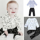 Cute Milk Bottle Pattern Kids Baby Suit Outerwear Sleepwear Outfits Top+pants