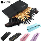 Vander Muticolor Soft SCC 32pcs Eyebrow Shadow Makeup Brush Set Kit + Pouch Bag