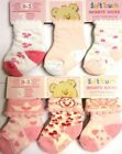Soft Touch  Baby Girls  cotton rich socks  6 pair  3 sizes available