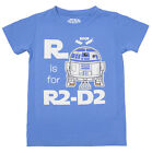 Star Wars R Is For R2-D2 Droid Image Licensed Toddler Baby T-Shirt - Blue