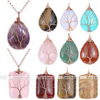 1pc Teardrop Rectangle Shape Crystal Stone Elegant Pendant for Necklace Gift