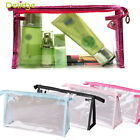 PVC Clear Transparent Plastic Cosmetic Make Up Travel Toiletry Bag Zipper