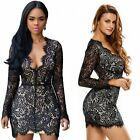 New Women Summer Long Sleeve Bodycon Casual Party Evening Cocktail Short Dress
