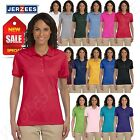 Jerzees Women's SpotShield Short Sleeve Solid Polo Shirt M-437W