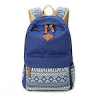 Vintage Women Canvas Backpack Back To School Shoulder Bag Travel Rucksack Laotop