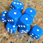 10Pcs Acrylic Six Sides Spot Dot D6 Playing Game Color Dices Bar Pub Toy Small U