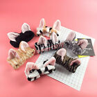 Cute Japanese Women Cat Ear Bow Headband Makeup Hairbands Hair Accessories