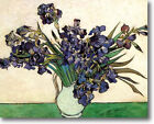HUGE Van Gogh Vase of Irises Stretched Canvas Giclee Repro ALL SIZES