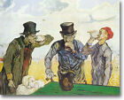 HUGE Van Gogh  The Drinkers Stretched Canvas Giclee Art Print  Repro ALL SIZES