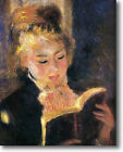 HUGE Renoir Woman Reading Stretched Canvas Giclee Repro Art Print ALL SIZES
