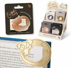 Curled up Corners Metal Bookmarks Cat Dog Fox Mouse