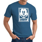 Disney Mickey Mouse OHBOY Obey Parody Funny Unisex Crew Neck Cotton Tee T-Shirt
