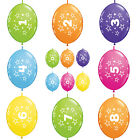 "10 x 12"" Quick Link Number/Age Qualatex Latex Birthday Balloons Linking Garland"
