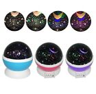 LED Rotating Star Projector Baby Night Light Nursery Children Room Lighting Lamp