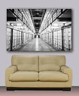 "Black and White Alcatraz cell block Huge canvas print 30""x40"" San Francisco"