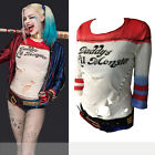 Hot Harley Quinn Daddy's Little Monster Suicide Squad Costume Cosplay T-Shirt