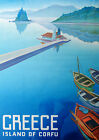Visit Corfu ...Greece .... Vintage Travel Poster A1A2A3A4Sizes