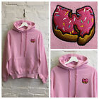 Actual Fact Wu Donut Embroidered Wu Tang Clan Crew Neck Pink Hoody Sweatshirt