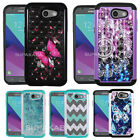 For Galaxy J3 Eclipse, J3 Emerge, J3 Luna Pro, J3 Prime, Diamond Bling Hard Case