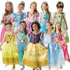 GIRLS GLITTER DELUXE DISNEY PRINCESS CHILD FANCY DRESS COSTUME + TIARA BOOK WEEK