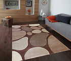 New Grey/Brown Stone Modern Rug Small Large Thick Hand Carved Easy Clean Rug