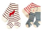 Pack of 2 Baby Girls Striped Fox Bunny Stars Cotton Rich Tights Age 6-12 1 2 3 Y