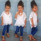 Kids Toddler Baby Girls Outfits Tops T Shirt + Pants Dress Clothes Set Age 1-9Y