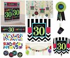 CHEVRON Age 30 - Happy 30th Birthday PARTY ITEMS Celebrate Decorations Tableware