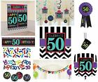 CHEVRON Age 50 - Happy 50th Birthday PARTY ITEMS Celebrate Decorations Tableware