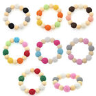 DIY Baby Wood Beads Bracelet Handmade Craft Children Portable Toy Gift Tools