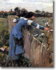 HUGE WATERHOUSE The Flower Picker Stretched Canvas Giclee Repro Print ALL SIZES
