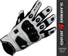 Richa Rock Short White Leather Sports Motorcycle Glove All Sizes Gloves Scooter
