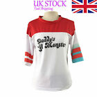 Harley Quinn T-shirt Daddy's Lil Monster Suicide Squad Costume Cosplay #imr33