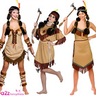 LADIES NATIVE AMERICAN INDIAN POCAHONTAS CHIEF TRIBAL FANCY DRESS COSTUME