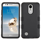 LG Phoenix 3 M150 & LG Fortune M153 - Hybrid Armor Shockproof Phone Case Cover