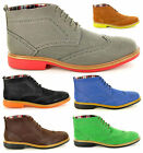 New Mens Casual / Formal Desert Ankle Brogue Boots Shoes In UK Sizes 7 8 9 10 11