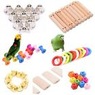 10pcs Parrot Bird Toys DIY Accessory Toy Parts Cage Perch Swing Making Craft Lot