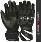 Weise Oslo Textile Mesh Leather Short Waterproof Motorcycle Glove Scooter Gloves
