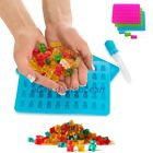 Pack of 2 Silicone Gummy Bear Molds Maker Trays - ONE BONUS DROPPER