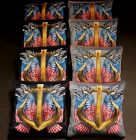 PATRIOTIC SAILORS ANCHOR EAGLE WINGS 8 ACA Regulation Cornhole Bean Bags B193
